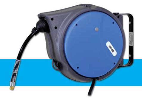 Enrouleurs industriels 10 m tres carter abs emi air comprim - Enrouleur air comprime ...