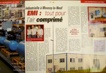 EMI AIR COMPRIME presse dans bénéfice.net n°23