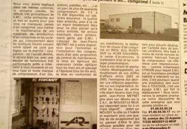 EMI AIR COMPRIME Presse La marne du 14 juin 2006