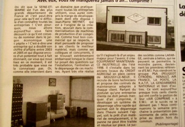 EMI AIR COMPRIME Presse La marne du 7 juin 2006
